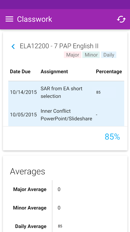 Graded- screenshot
