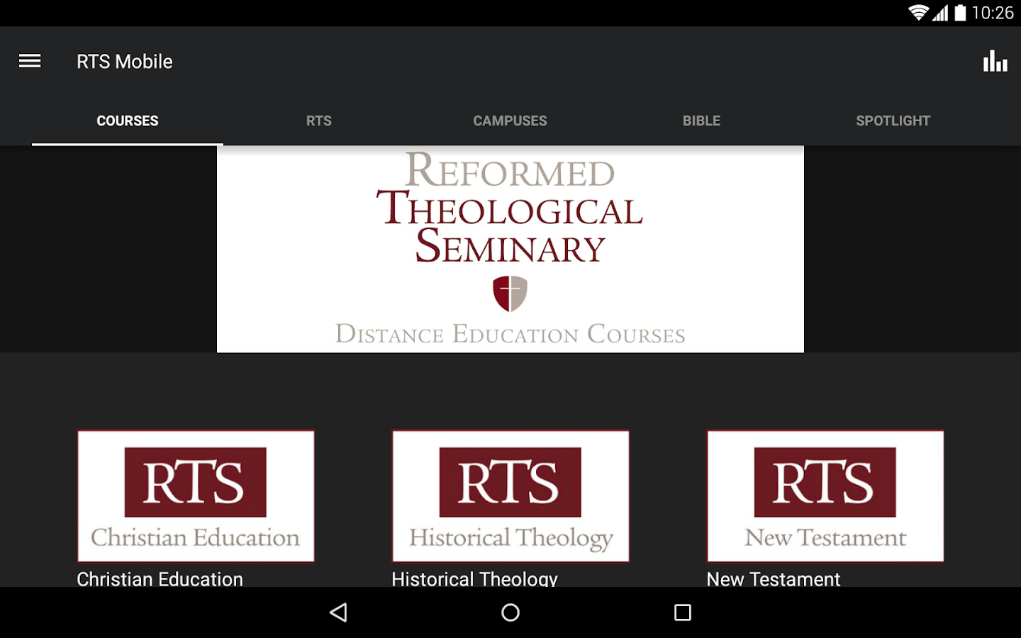 Reformed Theological Seminary- screenshot