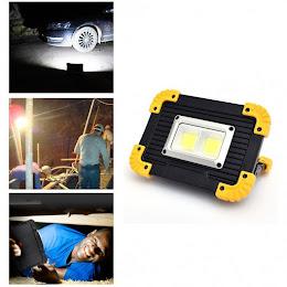 Proiector portabil COB LED 20W cu acumulatori, functie de baterie externa