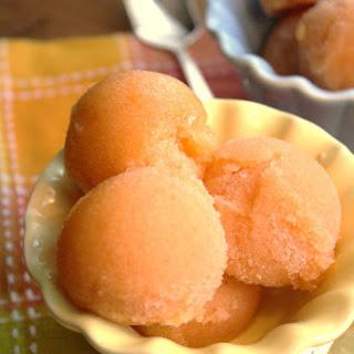 Peach Lemongrass Sorbet.