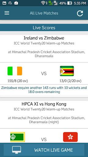 Live Cricket 24/7 4.1 screenshots 4