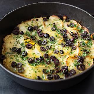 Portuguese Salt Cod, Potato, and Egg Casserole.