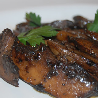 Sauteed Portabella Mushrooms in a Balsamic and Butter Sauce.