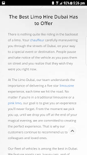 The Limo Dubai .- screenshot thumbnail