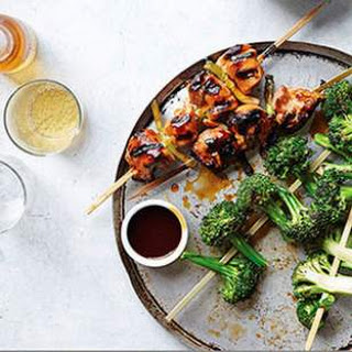 Chicken Yakitori with Broccoli for Two