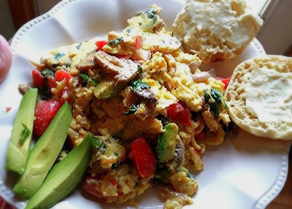 Serve with your favorite breakfast bread and a few slices of avocado in the...