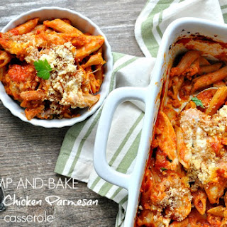 Dump-and-Bake Skinny Chicken Parmesan Casserole