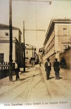 Photo: Corso Umberto I (oggi Bruno Buozzi). A destra il vecchio Ospedale Andosilla. Inizi '900.