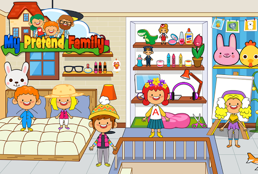 My Pretend Home & Family - Kids Play Town Games! android2mod screenshots 7