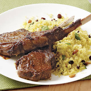 Charmoula Lamb Chops with Curried Couscous.