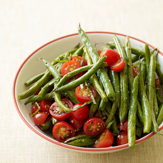 Roasted Green Beans and Fresh Tomatoes.