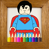 Kids Coloring Book Superheroes