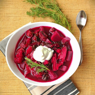Vegetarian Borscht with Kale