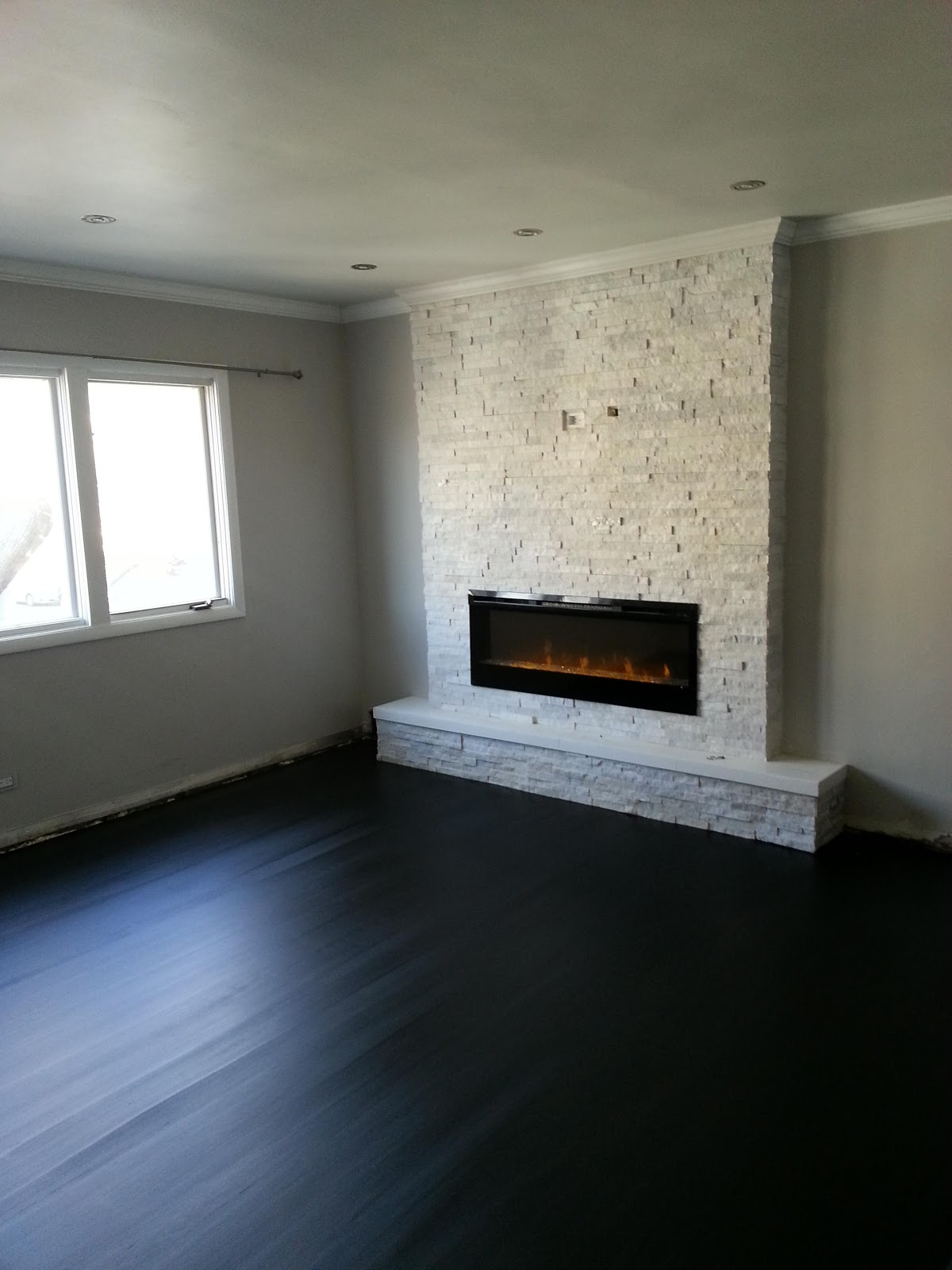 home diy wall fireplace that is stunning