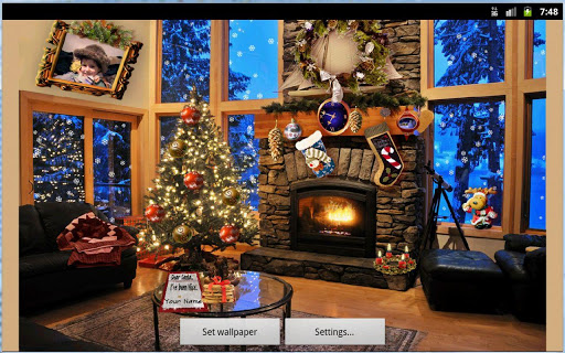 Christmas Fireplace LWP Full screenshot 21