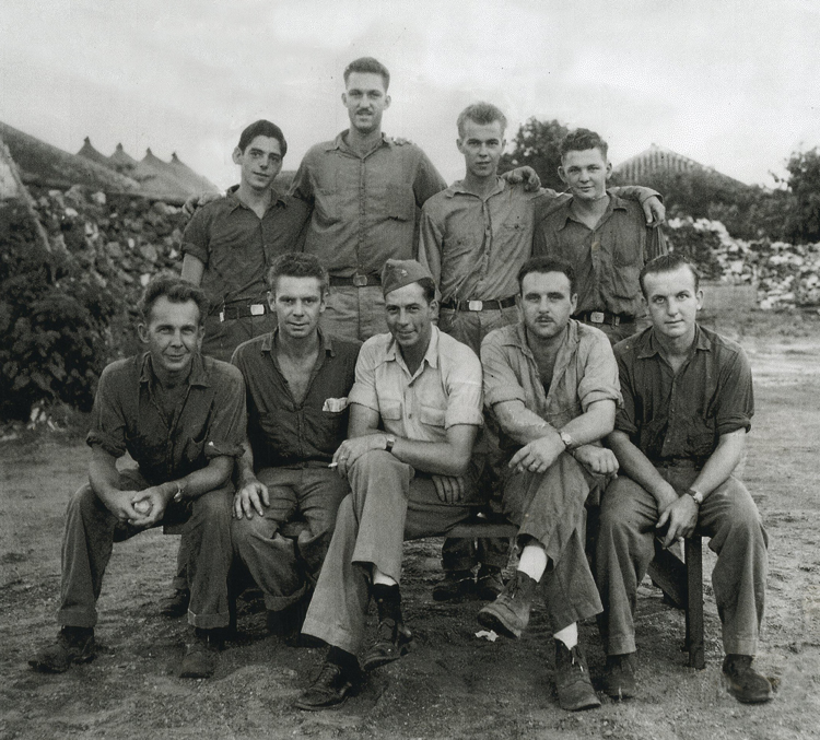 Reggie, front row, second from right, South Pacific