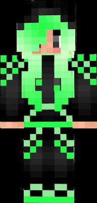 GURL in Neon hoodie