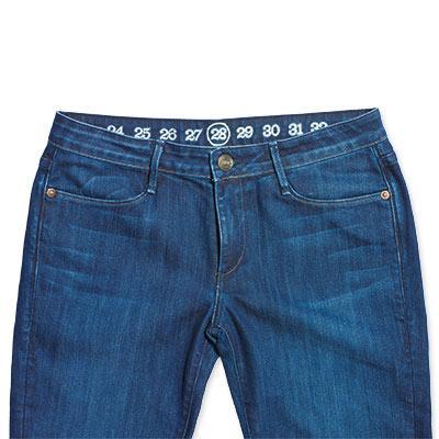 Numeração menor no jeans