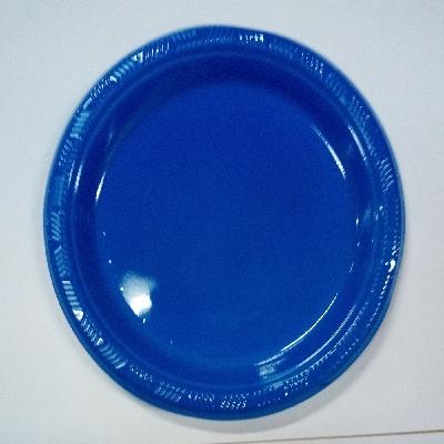 platos plasticos disipal azul 18cm 10und