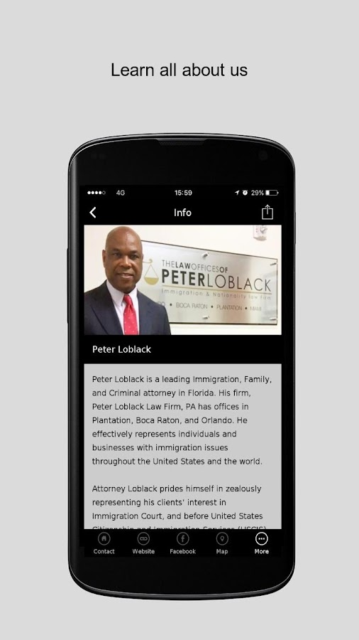Peter Loblack Law Firm PA- screenshot