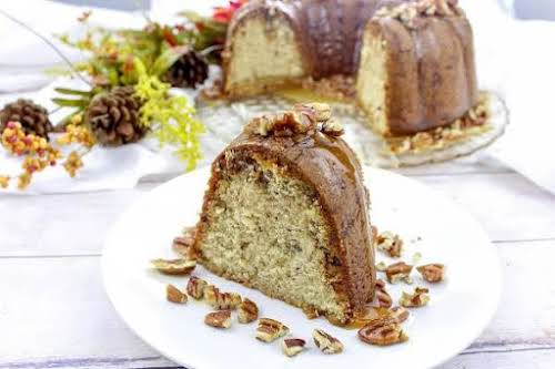 """Toffee & Brown Sugar Pound Cake""""This toffee and brown sugar pound cake..."""
