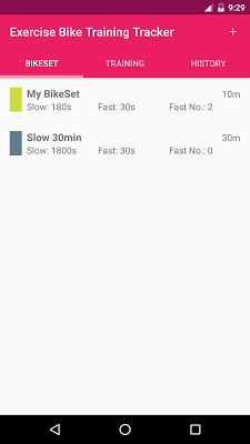 Exercise Bike Training Tracker - screenshot