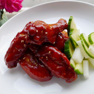 Chicken Wings with Korean Chile .