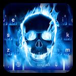 Blue Flaming Skull Keyboard Icon