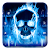 Blue Flaming Skull Keyboard file APK for Gaming PC/PS3/PS4 Smart TV