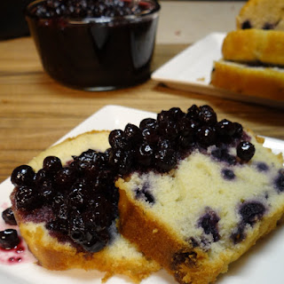Wild Blueberry Honey Breakfast Bread with Wild Blueberry Honey Compote.