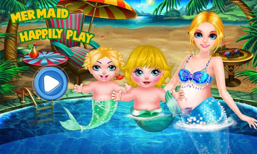 Mermaid Happily Play