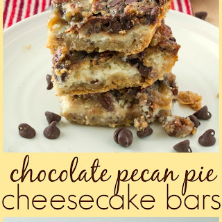 Chocolate Pecan Pie Cheesecake Bars