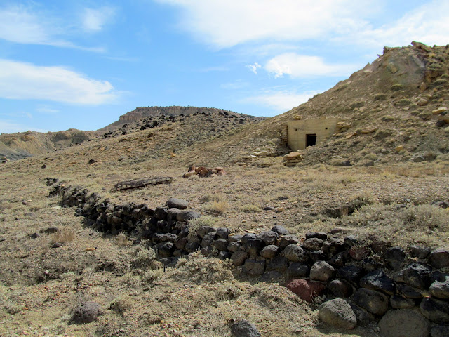 CCC explosives bunker and rock wall