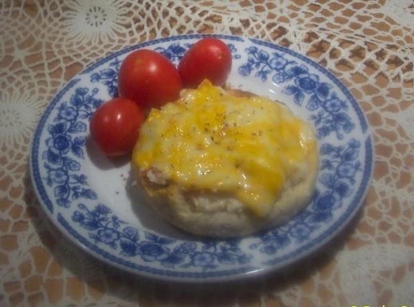English Muffin  Cheese Crab Melt Recipe