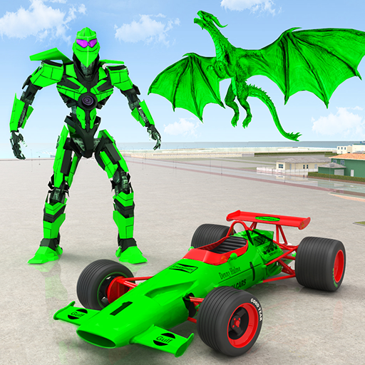 Dragon robot car game - robot transform