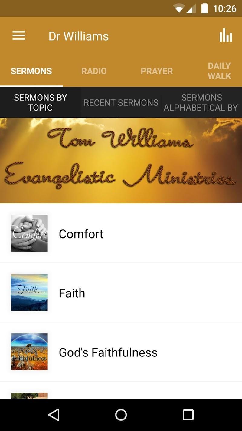 Скриншот Tom Williams Ministries