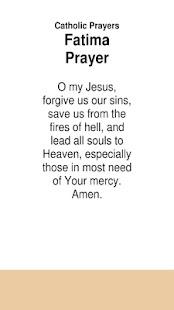 Catholic Prayers Fatima Prayer - náhled