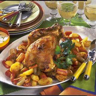 Honey and Mustard Roast Chicken with Root Vegetables