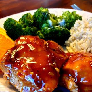 Slow Cooker Spicy Orange Chicken.
