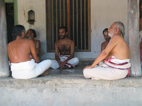 Photo: Veda parayanam in the house of Ayya Swami