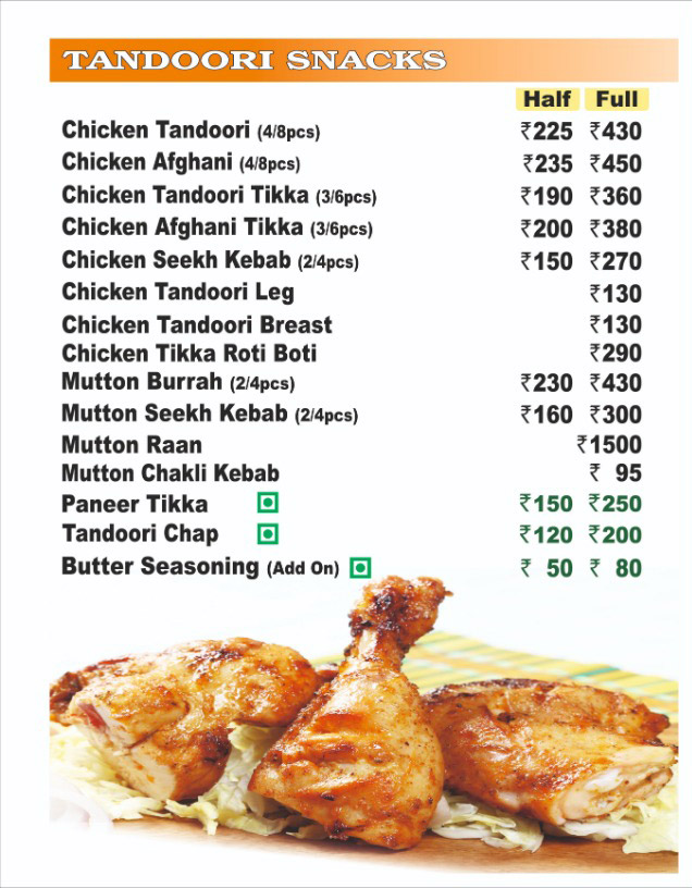 Nazeer Foods menu 1