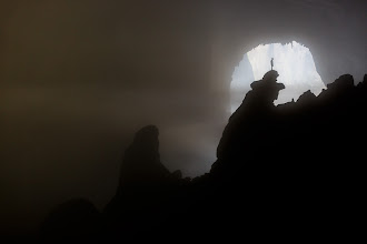 Photo: The Hand of Dog, Son Doong Cave, Vietnam  This large stalagmite in Son Doong Cave is affectionately known as The Hand of Dog. The light coming from behind it is from one of the cave's two collapsed roof sections or dolines. The air is thick with constantly evolving layers of mist and cloud caused by the differences in temperature and humidity between the inside of the cave and the outside jungle. The crazy fool standing on top is Adam, one of our fantastic caving experts and guides.  #AmazingLandscapes curated by +Rolf Hicker #FreshPics +Fresh Pics curated by +Trevor Farrell #hqsplandscape , +HQSP Landscape curated by +Michael Garza +Nader El Assy +Vinod Krishnamoorthy +Luca Ferroglio +midori chan +Craig Loxley +Rob Tilley #landscapephotography +Landscape Photography +Landscape Photography Show +Margaret Tompkins +Jim Warthman +Kevin Rowe +Johan Peijnenburg +David Heath Williams +Tom Hierl +Carolyn Lim +Tom Sloan +Howard L. Smith +Kai Kosonen +Tony Heyward +Sheila B. DuBois +Sandra Brown +Vishal Kumar +Toshi Nakamura #photojournalworlwide +Photo Journal Worldwide curated by +andi rivarola #weatherandnaturalforces +LANDSCAPE Photos curated by +Robert SKREINER