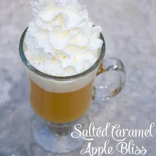 Hot Salted Caramel Apple Bliss Drink.
