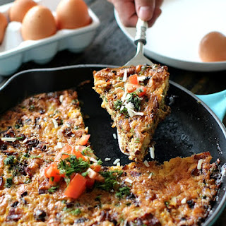 Bacon Corn and Sweet Peas Frittata Recipe