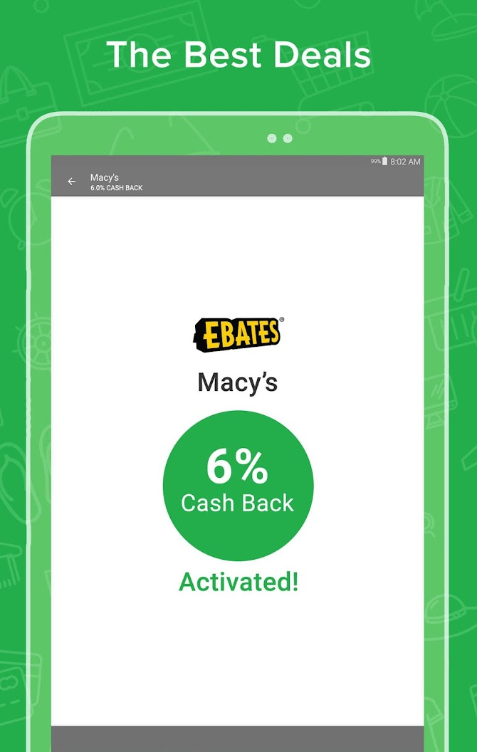 Ebates: Cash Back Rewards, Coupons & Promo Codes Android 9