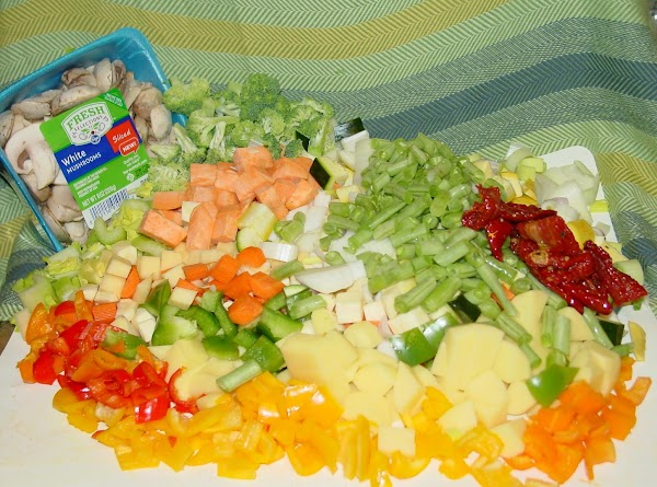 Prep all of the vegetables by washing, peeling and chopping. I try to keep...