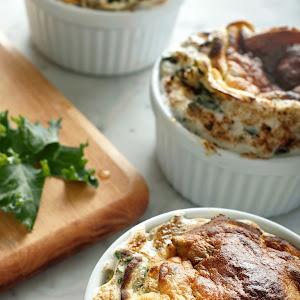 Kale & White Cheddar Souffle