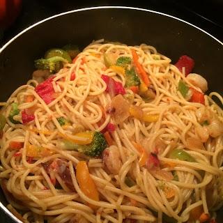 Simple Shrimp and Noodle Stir Fry