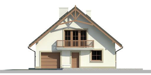 Dom przy Wiązowej 2 - Elewacja przednia