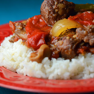 Crock Pot Pepper Steak.